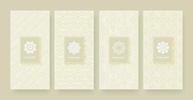 elegant bakgrundsdesign för bannerprydnadsmönster vektor
