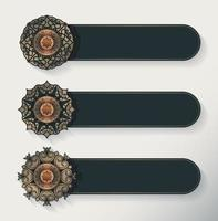 lyx mandala dekorativa banner vektor