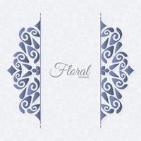 eleganter dekorativer Verzierungsrahmenhintergrund vektor