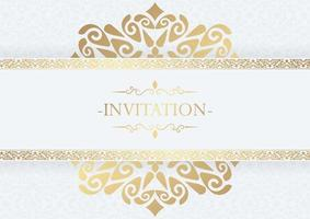 elegante Einladung dekorativen Rahmen Design Hintergrund vektor