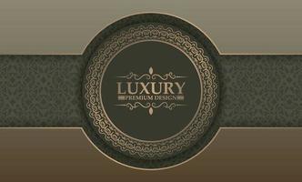 Premium Luxus Kreis Grenze Hintergrund Konzept vektor