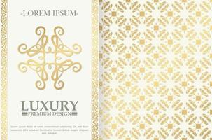 Luxus Ornament Grußkarte Vektor Vorlage