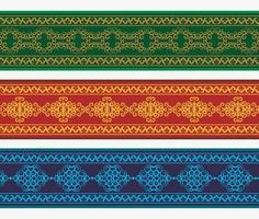 henna banner gränsen med färgglada gränsen vektor