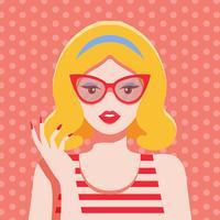 Kvinna Pop Art Vector