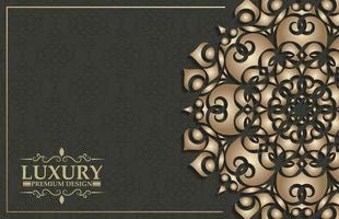Luxus-Zier-Mandala-Hintergrund mit arabisch-islamischem Ostmuster-Musterprämie vektor