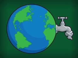Karikatur sauberes Wasser Mangel globale Erwärmungseffekt Vektor-Illustration vektor