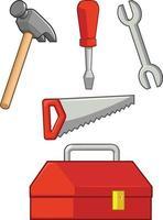 Handgestenzeichen, das Werkzeugkarikaturvektorillustrationszeichnung hält vektor