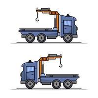 Abschleppwagen auf weißem Hintergrund vektor