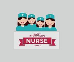 internationell sjuksköterskadag vektorgrafik med platt karaktär vektor