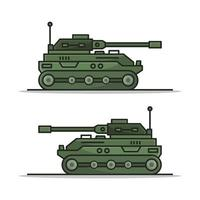 Tank auf weißem Hintergrund dargestellt vektor
