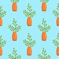 nahtloses Muster von Zimmerpflanzen vektor