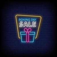 Boxing Day Sale Leuchtreklamen Stil Text Vektor