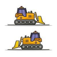 bulldozer på vit bakgrund vektor