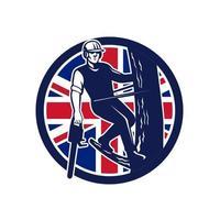 Baumpfleger Baumchirurg britische Flagge vektor