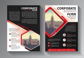 röd flygblad affärsmall uppsättning vektor