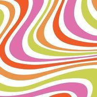 mod virvlande runt ränder mönster rosa orange grön vektor