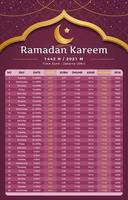 Ramadan Kareem Kalenderkonzept vektor