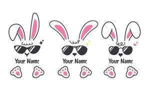 vektor kaninuppsättning