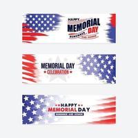 Happy Memorial Day Banner vektor