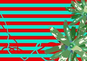 exotischer Blumen- und Streifenhintergrund, moderner Retro-Grafikillustrationshintergrund vektor