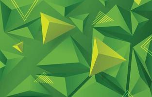geometrischer Formenhintergrund im grünen Farbschema vektor