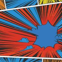 Vintage Comic Strip Hintergrund vektor