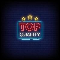 Text-Vektor der Neonschilderart von höchster Qualität vektor