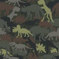Tarnfarbe des Dinosaurierskeletts. Vektor nahtloses Muster. Design für Textilien, Kleidung.