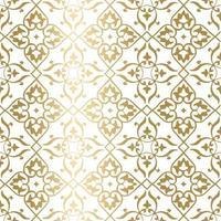 goldenes geometrisches Muster. minimales Muster. Jahrgang. stilisierte Blumen. ideal für Stoffe und Textilien, Einladungen, Mode, Visitenkarten, Tapeten, Verpackungen oder jede gewünschte Idee. vektor
