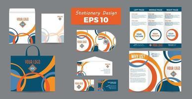 weiße Corporate Identity mit geometrischen Formen. elegantes Geschäftsbriefpapierdesign vektor