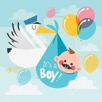 Storch liefert ein Baby-Konzept vektor