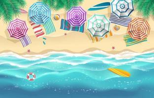 Sommerzeit Hintergrund Grenze Konzept vektor
