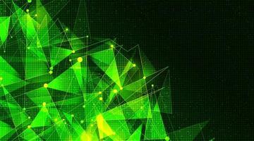futuristische Molekültechnologie auf Mikrochip-Hintergrund, High-Tech- und Wissenschaftskonzeptdesign, freier Speicherplatz für Text vektor