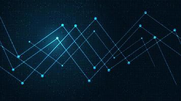Zukünftiger Netzwerk-Mikrochip zu technologischem Hintergrund, Hightech, Sicherheit und Design von Freigabekonzepten vektor