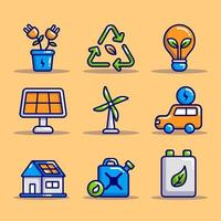Eco Green Technology Icon Sammlungen vektor