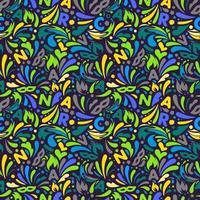 buntes abstraktes nahtloses Muster. Brazillian Karneval Design Vorlage vektor