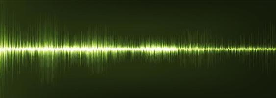 panorama grön digital ljudvåg låg och hög rikare skala vektor