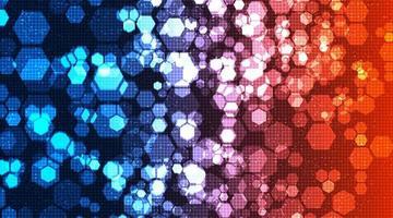 bunte Schaltung Polygon Technologie Hintergrund Hi-Tech Digital- und Sicherheitskonzept Design vektor