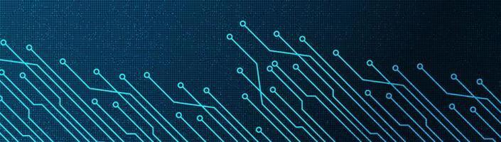 teknikmikrochip på framtida bakgrund, högteknologisk digital och säkerhetskonceptdesign vektor