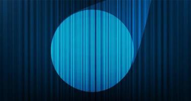 hellblauer Vorhanghintergrund des Vektors mit Bühnenlicht, hoher Qualität und modernem Stil. vektor
