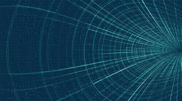 futuristisk hyperspace-hastighetsrörelse på framtida teknikbakgrund, varp och expanderande rörelsekoncept vektor