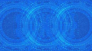 Cyber-Mikrochip auf technologischem Hintergrund, Hi-Tech- und Sicherheitskonzeptdesign vektor