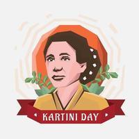 Kartini Tag Figur der Frauen vektor