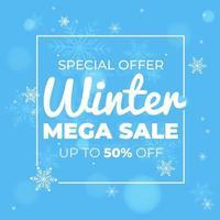 Sonderangebot Winter Mega Sale Banner Vorlage Design, gut für Ihren Online-Promotion-Vektor vektor