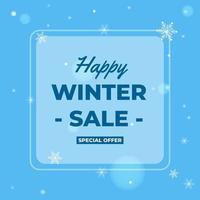 Sonderangebot Happy Winter Sale Banner Vorlage Design-Konzept, gut für Ihren Online-Promotion-Vektor vektor
