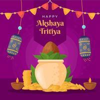 akshaya tritiya koncept vektor
