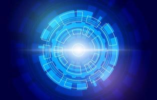 abstrakter hud cyber technologie hintergrund vektor