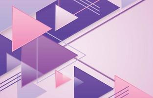überlappender geometrischer Dreieckshintergrund vektor