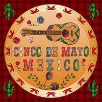 illustration design på det mexikanska temat för cinco de mayo firande vektor