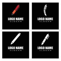 Stift Logo Vorlage Vektor-Illustration Design vektor